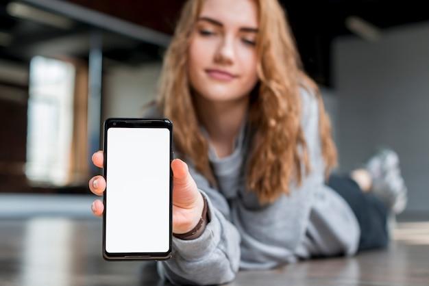 Femmes sexe problèmes montrant téléphone attendais